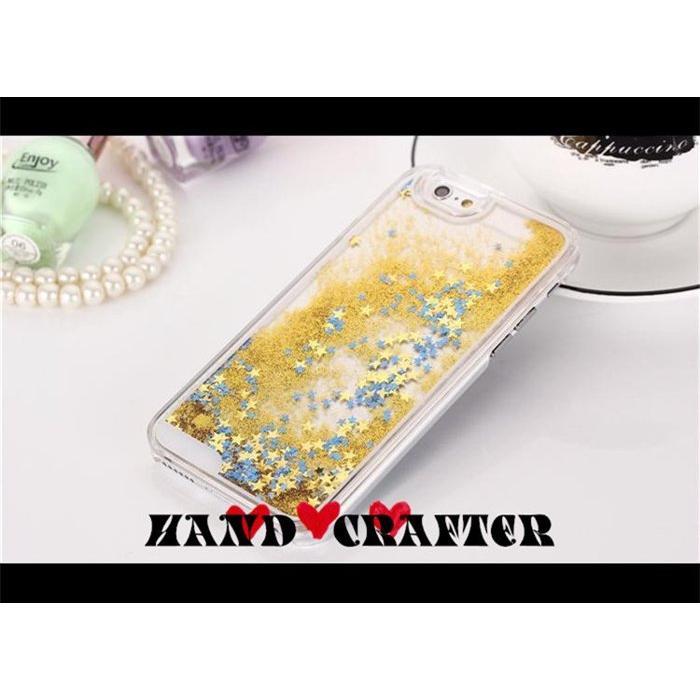 手作匠璀璨星空透明星沙液態流沙星星保護套保護殼手機套手機殼Iphone 5 6 6s Sa