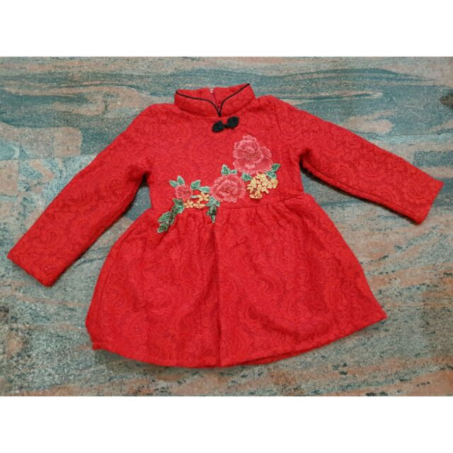 女童中國風喜氣洋裝