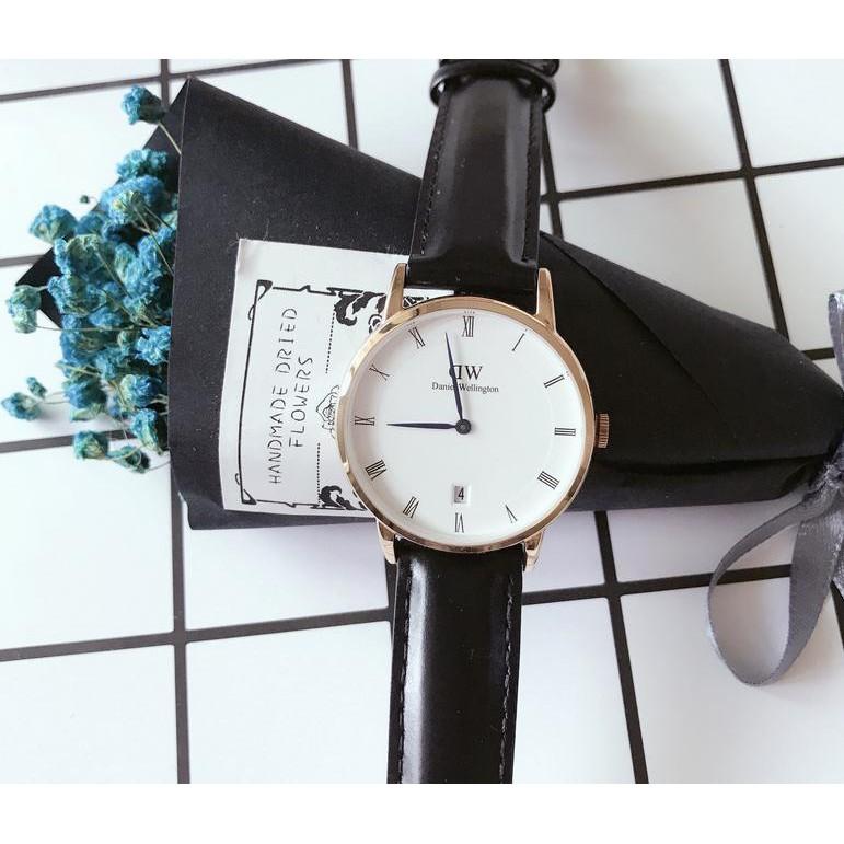 DW 手錶 潮流石英錶真皮潮男腕錶超薄男女情侶對錶Daniel Wellingtn 男錶潮
