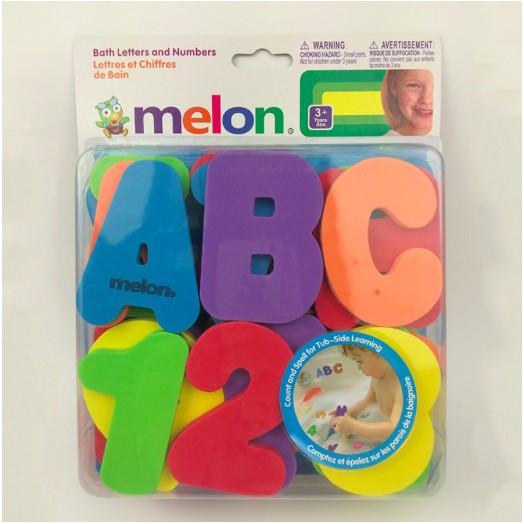 Momohouse 美國melon 戲水洗澡字母數字貼36 片兒童洗澡玩具嬰兒玩具