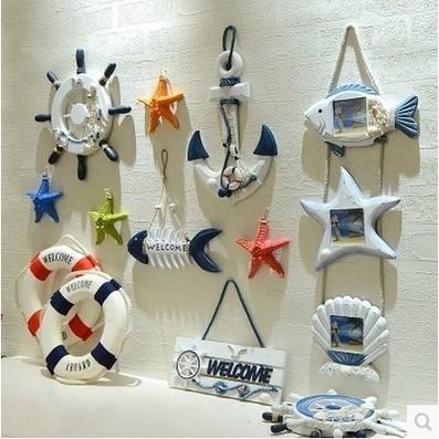 ✔~ 家飾 中~整套不拆賣地中海風格救生圈裝飾品船舵酒吧裝飾牆壁掛飾 壁飾壁掛件