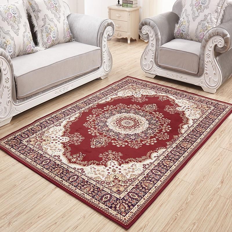 ~淘之夭夭~ 土耳其波斯地毯歐式客廳茶幾地毯臥室床邊毯美式田園混紡地毯
