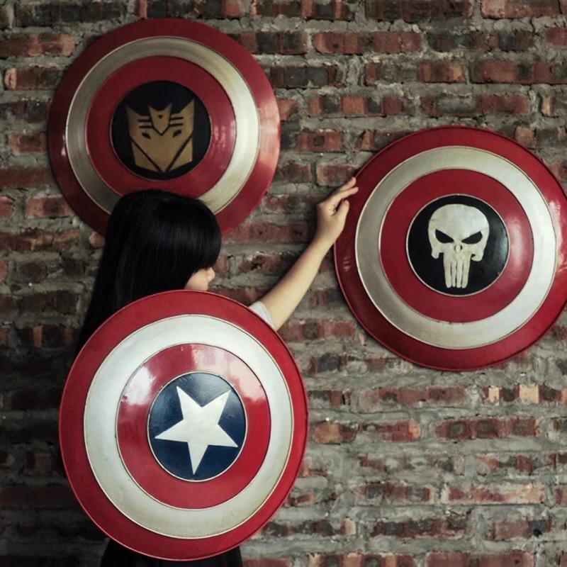 loft 工業風美國隊長盾牌壁飾復仇者聯盟 酒吧裝飾品鐵藝壁掛