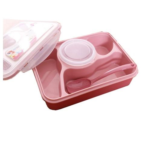 日式可愛小學生分格塑膠餐盒飯盒 兒童卡通便當盒可微波爐餐盒