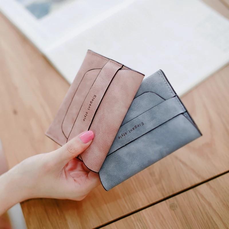 短夾磨砂抽帶超薄迷你零錢包皮夾 共6 色N450006