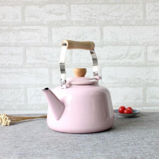 粉紅琺瑯壺燒水壺搪瓷電磁爐