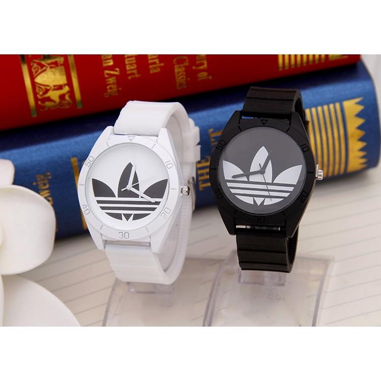 爆款手錶三葉草手錶愛迪達手錶阿迪達斯手錶LED 手錶圓手錶電子 手錶 手錶糖果色果凍男女錶