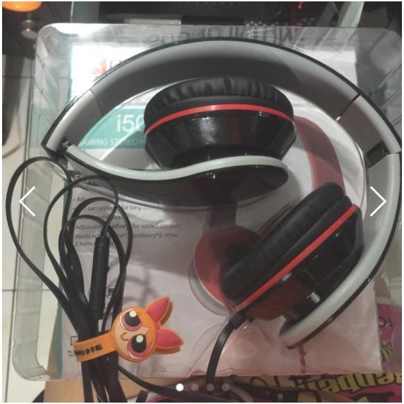 i50 耳罩式耳機麥克風可折疊好攜帶