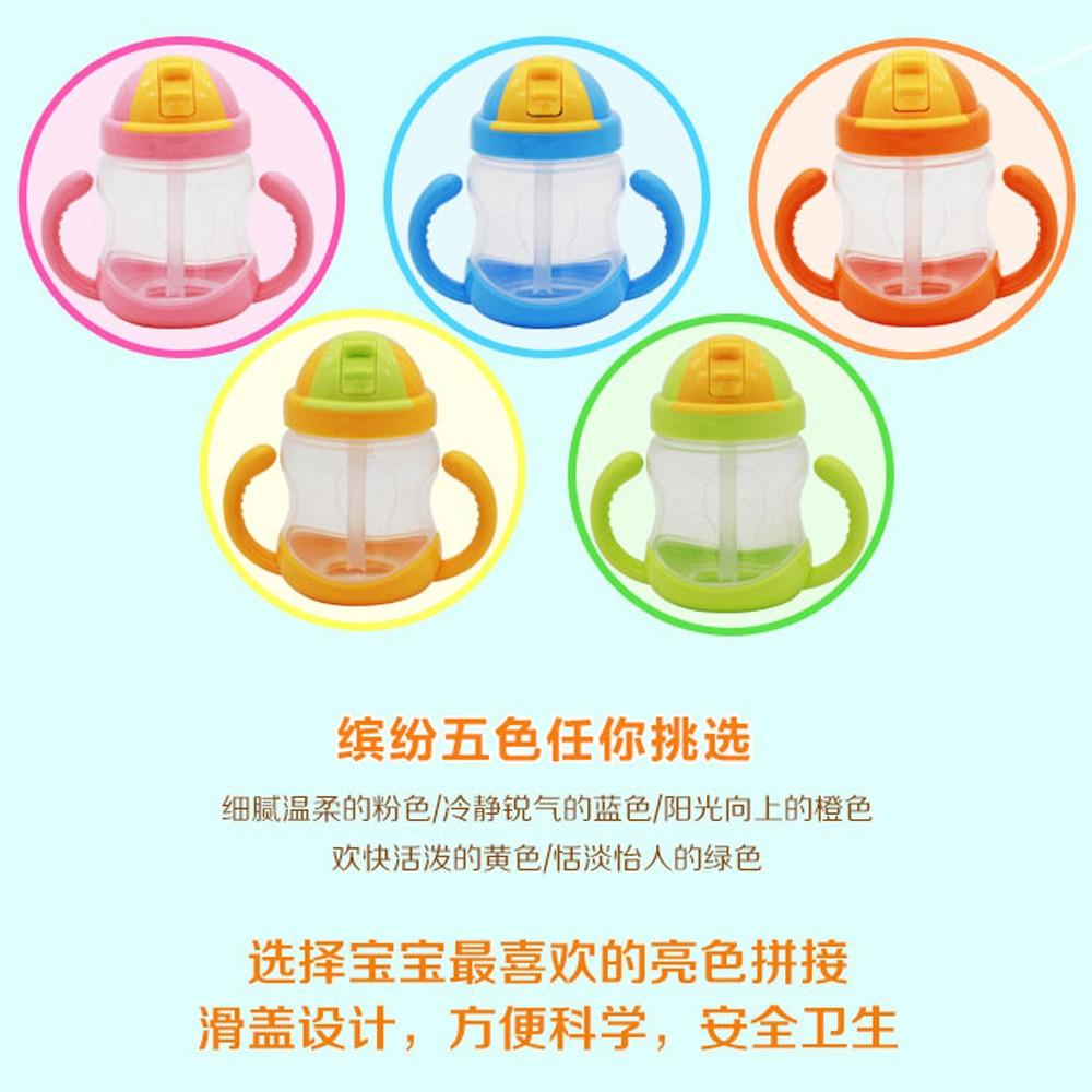 大容量防漏兒童吸管杯帶手柄寶寶喝水杯學飲杯嬰兒飲水杯嬰幼兒水壺
