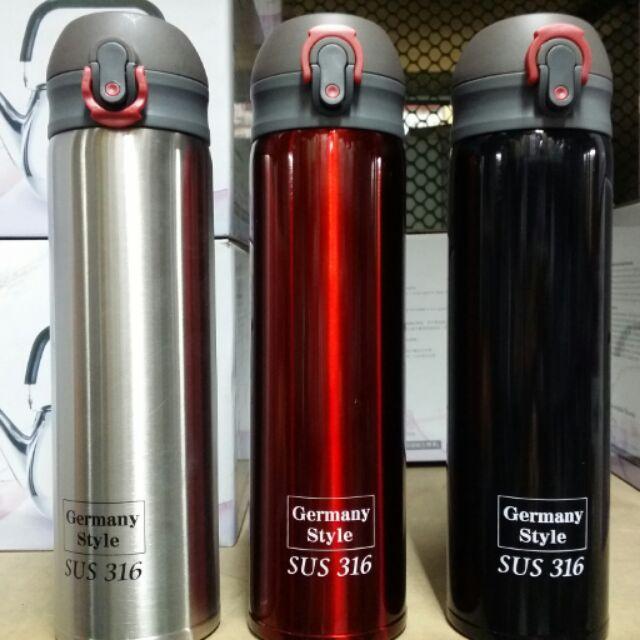 手刀價德式316 不鏽鋼彈蓋保溫瓶輕量化316 保溫瓶316 保溫杯水壺316 不鏽鋼外出