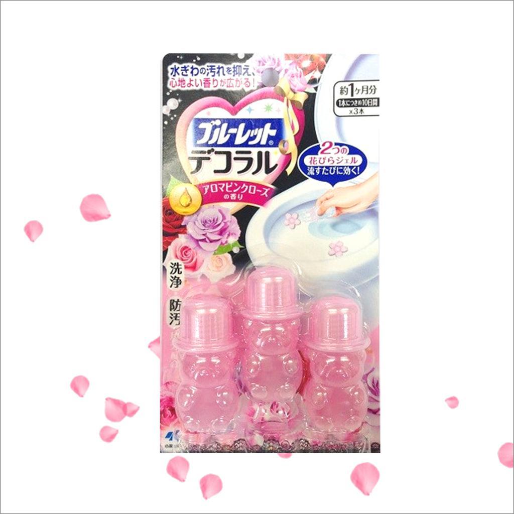 國內限定版小林製藥馬桶用消臭凝膠粉紅玫瑰