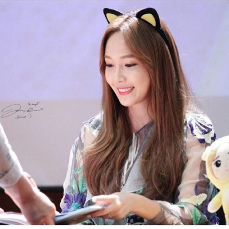 !少女時代潔西卡Jessica 同款黑色黃色貓耳朵韓國韓妞洗臉髮帶超萌髮箍兔耳朵髮飾小S