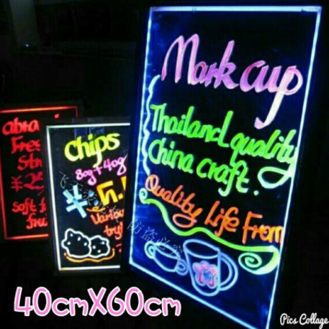 00198 ~LED 廣告板40cm ×60cm ~買一送6 支螢光筆LED 螢光板LED