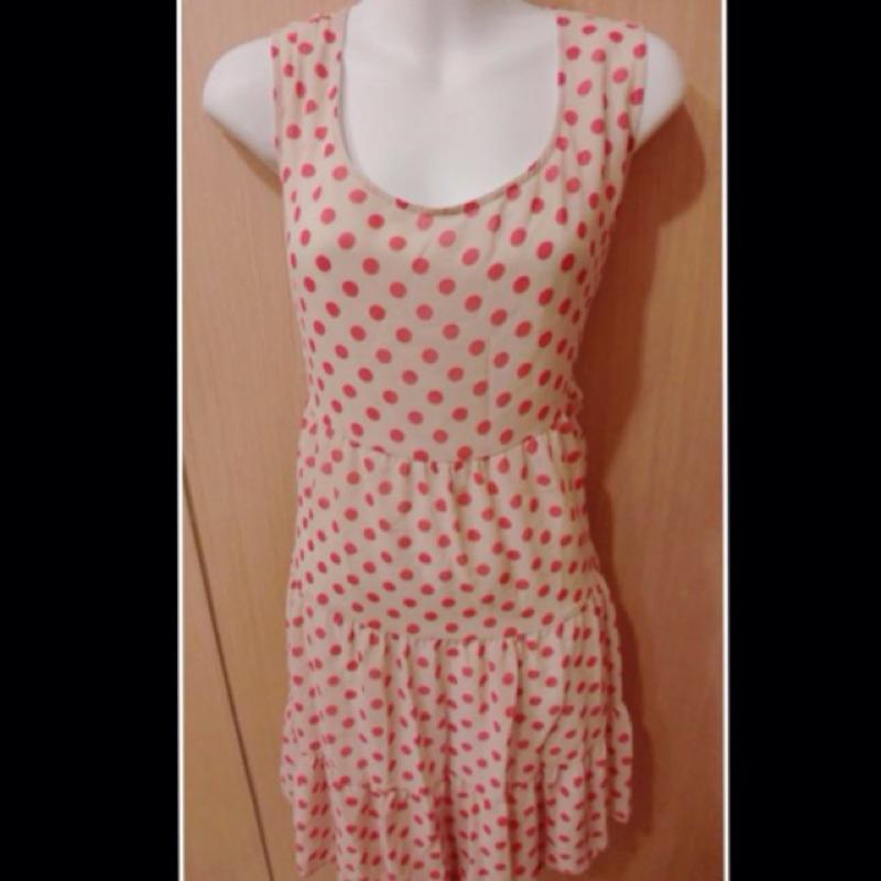 ~大 ~ OrangeBear 無袖點點多層次洋裝布標尺寸48 大 女裝