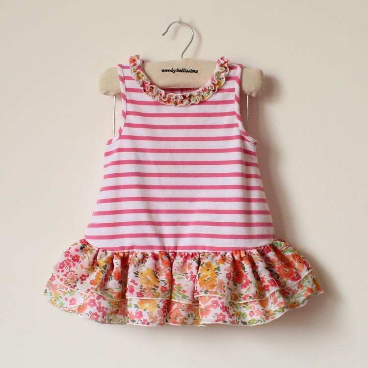 純棉外貿 公主裙田園風女童 連衣裙嬰幼兒小童公主裙