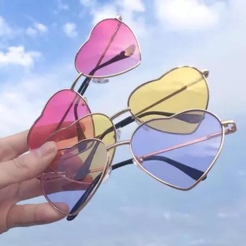 愛心 款透明墨鏡眼鏡