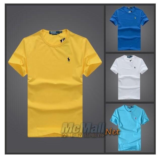 Ralph Lauren Polo 男款夏裝短袖彈性淨色小馬標T 恤衫圓領T 恤短袖T 恤