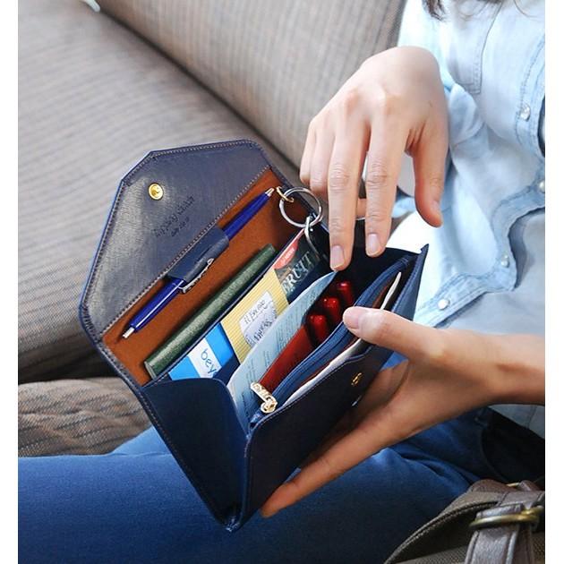優雅氣質男女錢包皮革旅行證件包護照包手機包AA012
