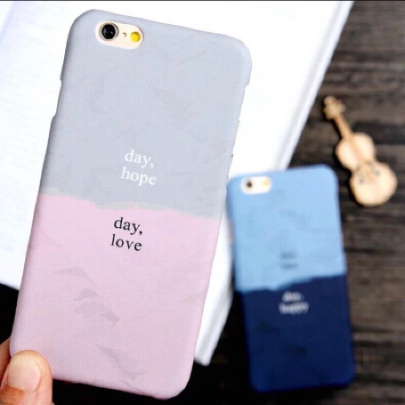I phone6 6s 拼接雙色磨砂手機殼不留指紋夏日簡約風剩一個米色 價附小贈品送完為止