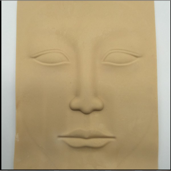 最低137 5 喔硅膠臉部眼睛唇部紋繡空白練習假皮紋繡紋身刺青美容繡眉練習皮刺青練習皮