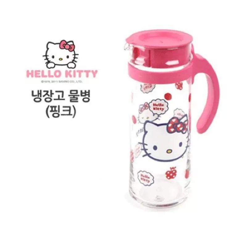 韓國Hello Kitty 涼水壺玻璃果汁壺1 3L 大容量