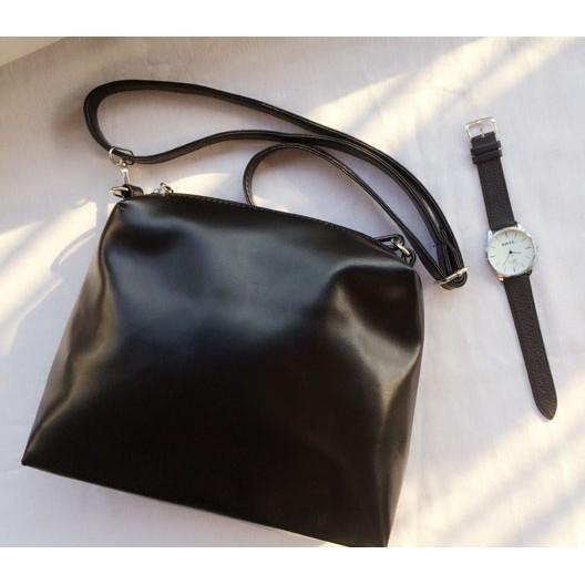 包款 肩側背包韓系簡約百搭素色軟質肩背側背斜背包現預XO 包小方包信差包 包