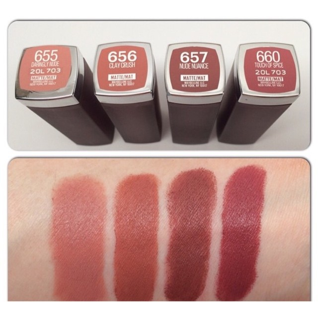 Maybelline 霧面唇膏Color Sensational Creamy Matte