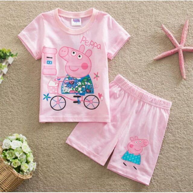 粉色佩佩豬居家服套裝上衣褲子