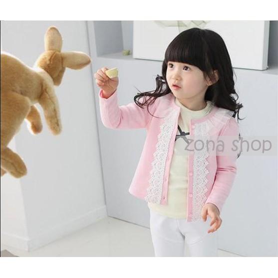 女童外套甜美休閒紗領蕾絲圓領兒童外套