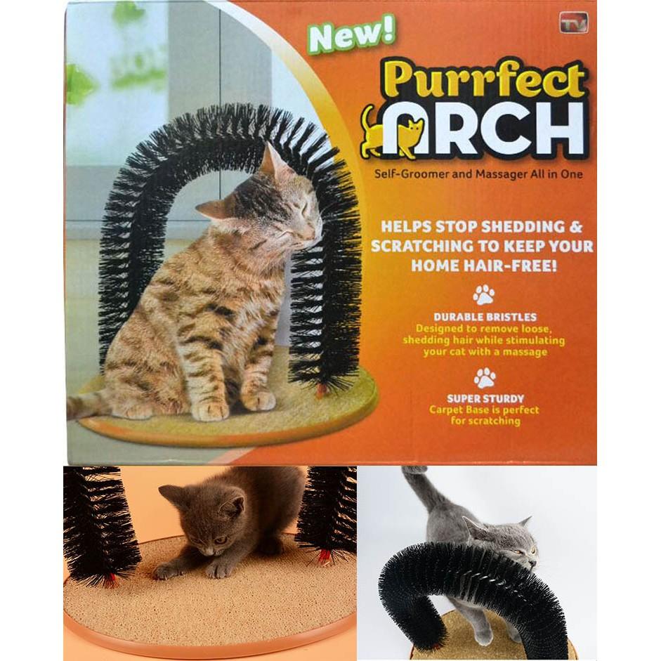 Purrfect ARCH 貓咪抓癢器貓咪蹭毛器拱型刷毛貓咪搔癢器