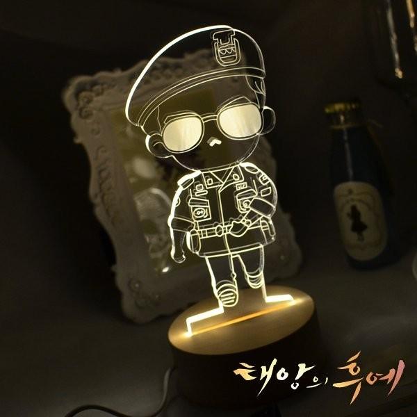 R A Design 3D LED 小夜燈美國 師太陽的後裔宋仲基~ 1280 元~韓國團