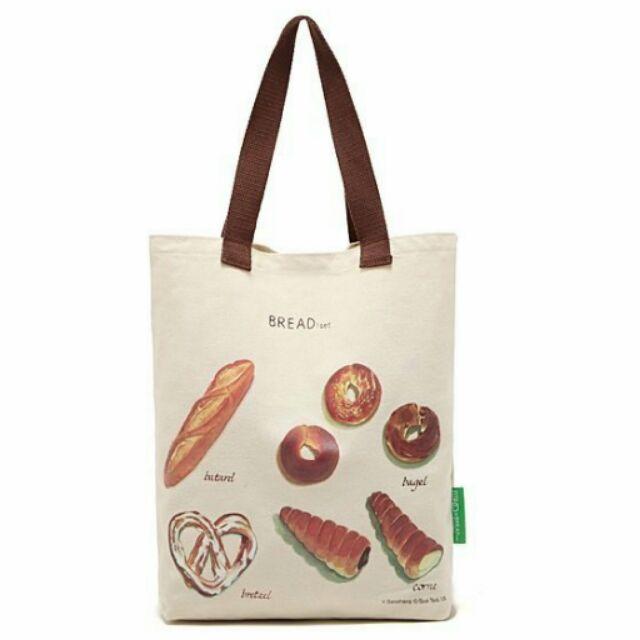 FUN 日雜studio CLIP 麵包圖案托特包童趣帆布包 袋肩背包