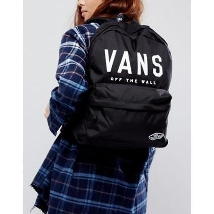⭐️ ❤️ Vans Realm Logo Backpack 後背包大學包雙肩包黑色 款書