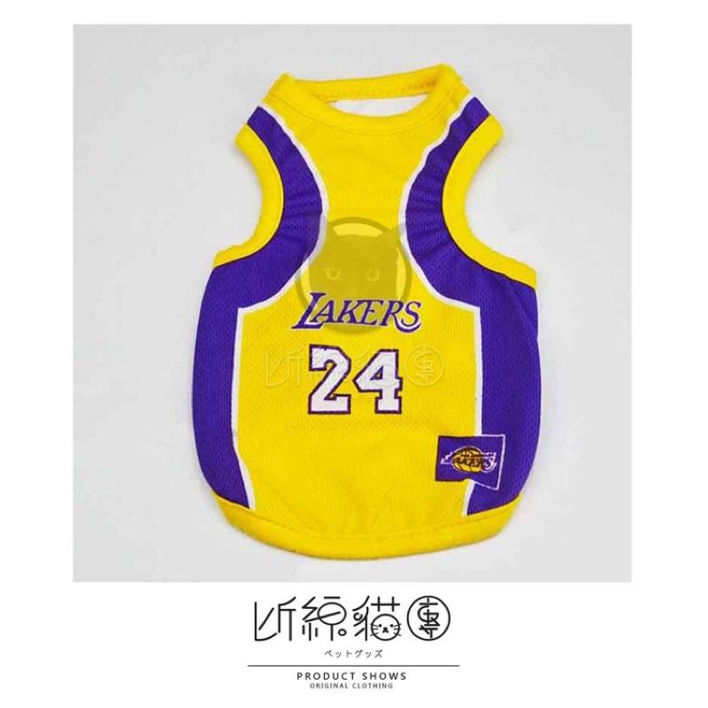 NBA 客製化寵物狗狗貓咪兔子兔兔透氣網眼背心球衣湖人隊 區