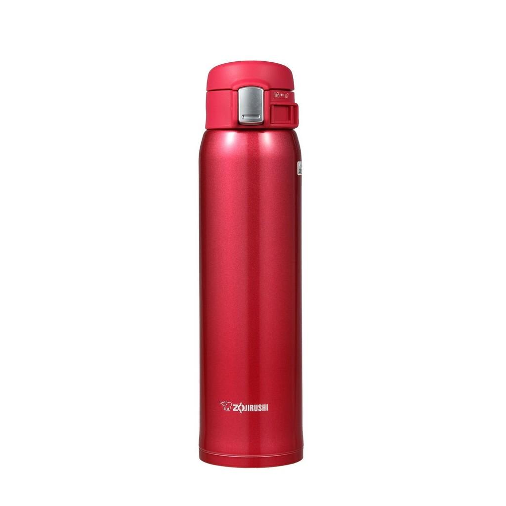 象印不銹鋼真空保溫瓶SM SA60 RW 紅色ONE TOUCH 保溫杯0 6L