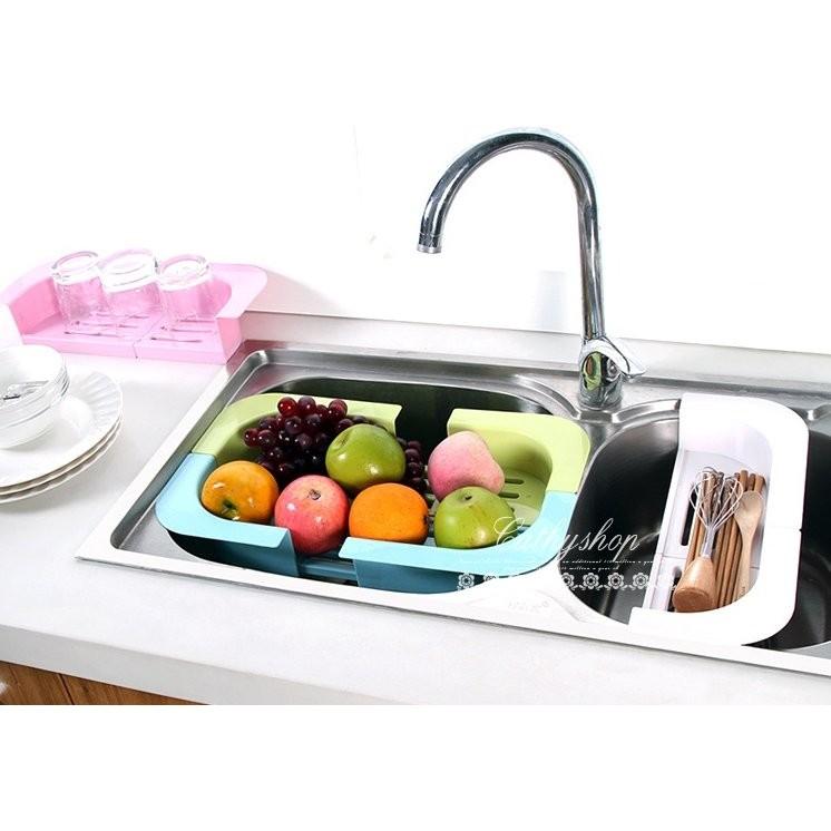 糖果色廚房可伸縮瀝水置物架瀝水架杯子收納架W198