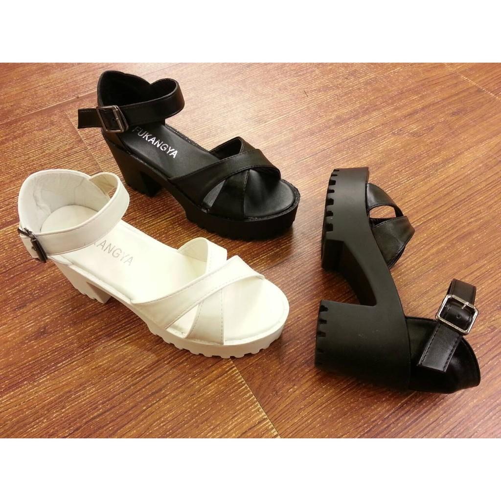 涼鞋IF 美鞋  涼感真夏超實穿搭粗跟繞踝涼鞋 36 39 碼