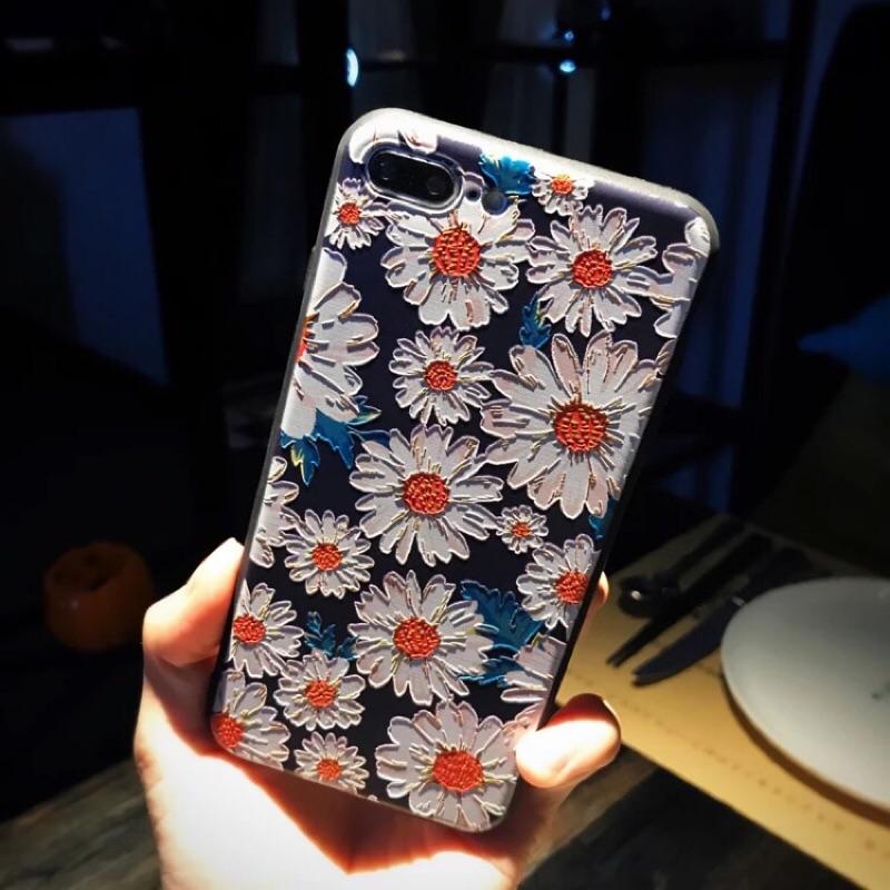 iPhone6 6s plus 浮雕矽膠7 plus 5s 文藝手機殼 防摔殼
