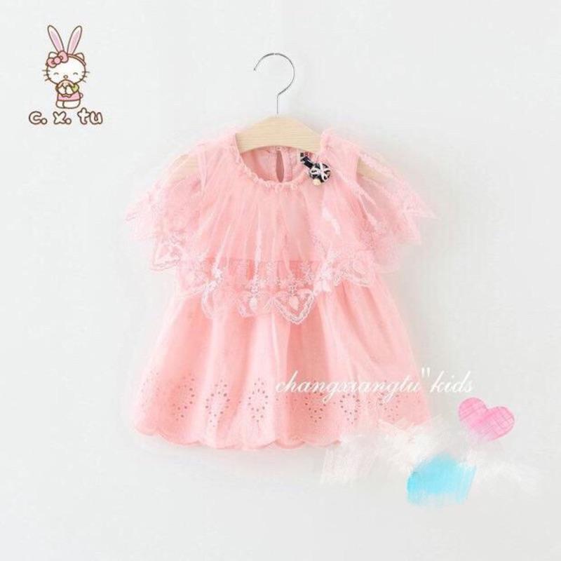 女寶女童網紗公主風小洋裝連衣裙
