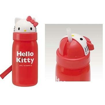 hello kitty 塑膠開口笑吸管水壺