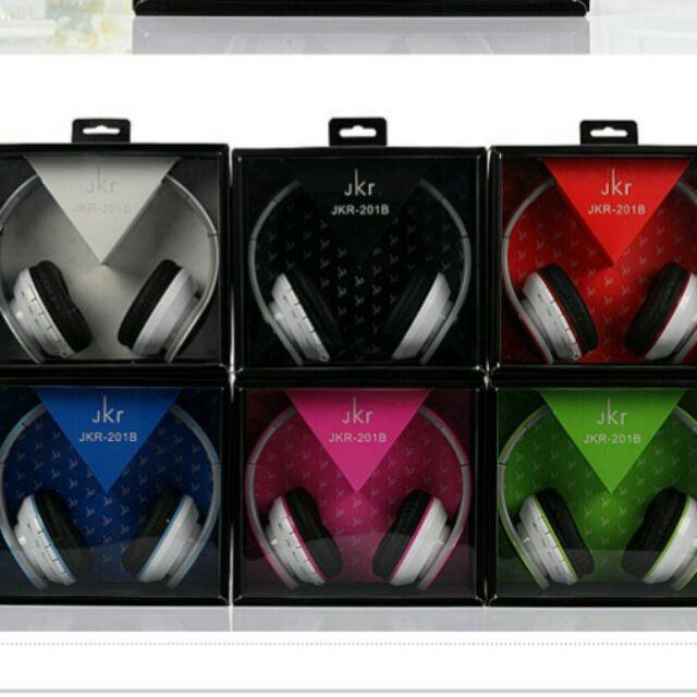 n nJKR 頭戴式藍芽耳機重低音環繞無線耳機可插卡手機筆電耳機遊戲音樂耳機