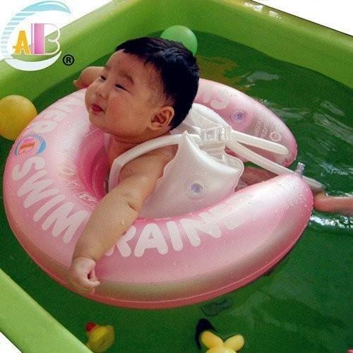 17 嬰兒游泳圈兒童泳圈腋下圈粉紅藍色S 號M 號嬰兒泳圈