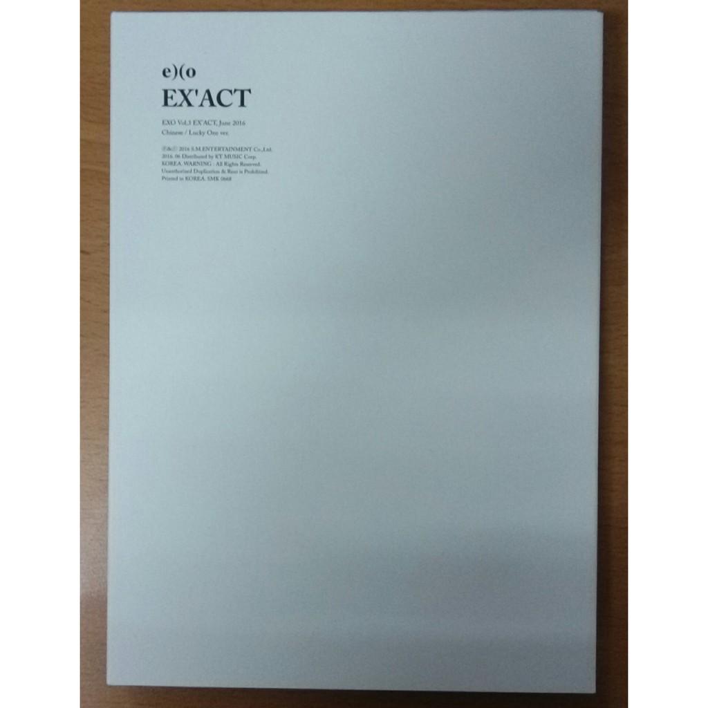 ~ 販售~EXO 正規三輯EXACT Lucky one Monster 空專送小卡韓文版
