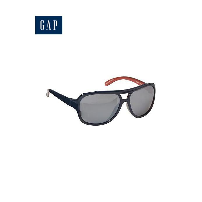 美國GAP 藍橘雙色帥氣膠框墨鏡太陽眼鏡