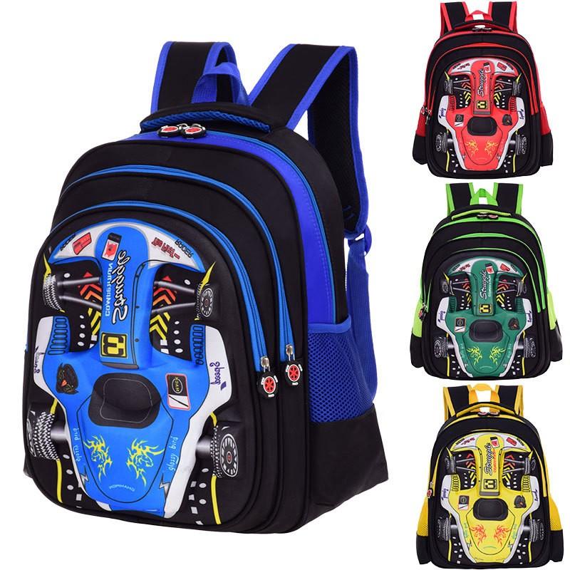 lxy 兒童背包男女孩雙肩包1 6 年級小學生書包卡通汽車書包護脊減負