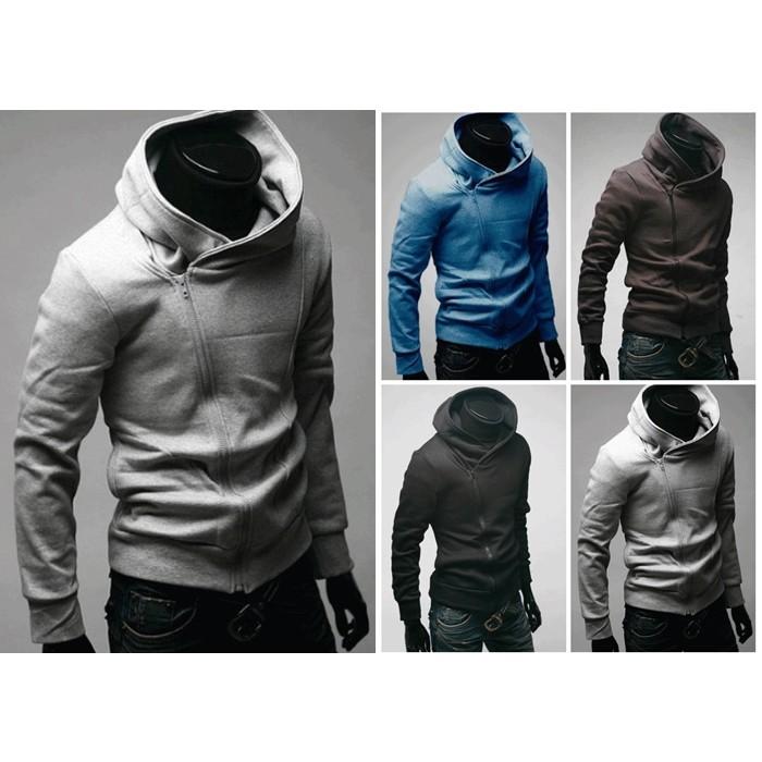 (韓系連帽外套)側拉鍊棉外套防曬夾克外套慢跑 外套休閒棉質外套素色連帽外套素面棉外套男外套