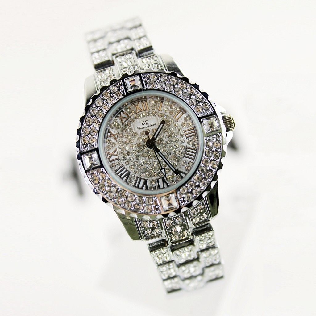 Coco 昕曦坊大希BS 正品滿天星鋼帶水晶手表時裝復古表滿鉆水鉆表奢華女士表 手錶 手錶