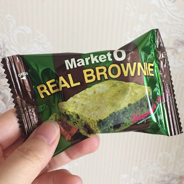 韓國MARKET O 抹茶布朗尼蛋糕REAL BROWNIE │8 入│192g