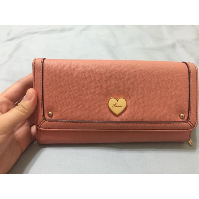 東京企劃粉橘色長夾