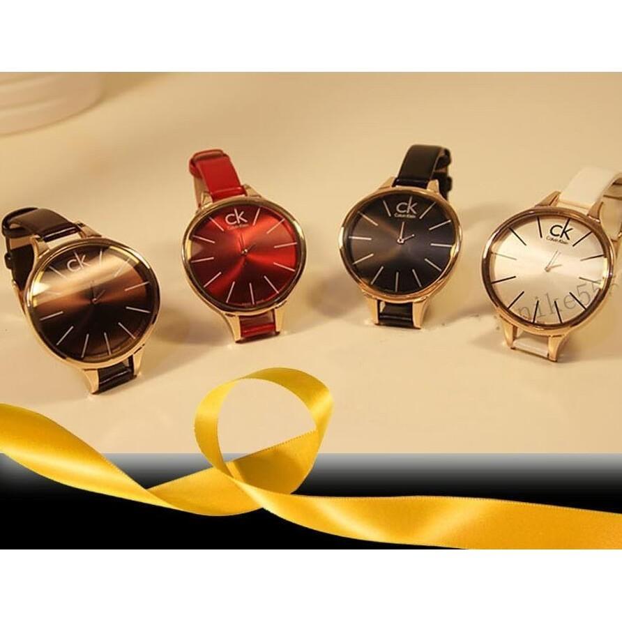 (三個起)Calvin Klein CK 手錶圓形男錶女錶情侶錶 手錶GUCCI 皮帶多款